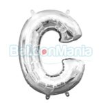 Balon Folie Litera C argintiu, 33 cm 33015
