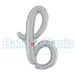 Balon folie litera b argintiu 34702S