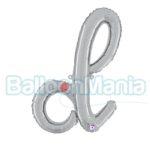 Balon folie litera d argintiu 34704S