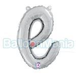 Balon folie litera e argintiu 34705S