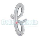 Balon folie litera f argintiu 34706S