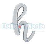 Balon folie litera h argintiu 34708S