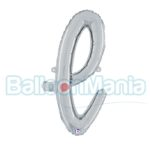 Balon folie litera l argintiu 34712S