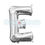 Balon Folie Litera E argintiu, 33 cm 33019