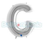 Balon Folie Litera G argintiu, 102 cm 269S