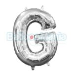 Balon Folie Litera G argintiu, 33 cm 33023