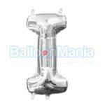 Balon Folie Litera I argintiu, 33 cm 33028