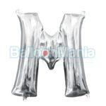 Balon Folie Litera M argintiu, 33 cm 33036