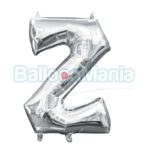 Balon Folie Litera Z argintiu, 33 cm 33062