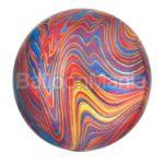 Balon folie Marblez colorat, 38 x 40 cm 41397
