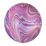 Balon folie Marblez mov, 38 x 40 cm 41395