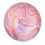 Balon folie Marblez roz, 38 x 40 cm 41396