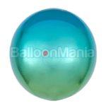 Balon folie Ombre Orbz albastru & verde, 38 x 40 cm 39849