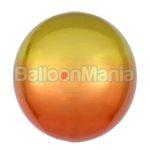 Balon folie Ombre Orbz galben & portocaliu, 38 x 40 cm 3984801