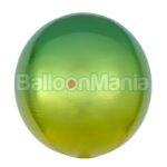 Balon folie Ombre Orbz galben & verde, 38 x 40 cm 3984601