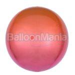 Balon folie Ombre Orbz rosu & portocaliu, 38 x 40 cm 3984701