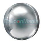 Balon folie Orbz argintiu jumbo, 53 x 53 cm 39101