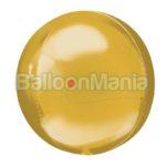 Balon folie Orbz auriu jumbo, 53 x 53 cm 39473