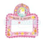 Balon folie rama foto Unicorn 110477
