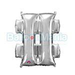 Balon Folie Simbol # argintiu, 33 cm 33066