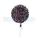 Balon folie Sparkling Pink Happy Birthday, 43 cm 33782