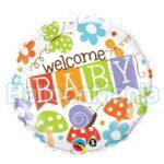 Balon folie Welcome Baby, 45 cm 25210
