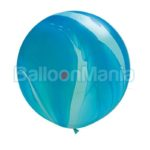 Balon latex, superagata albastru , 75 cm 63756