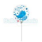 Balon minifolie Baby Boy Narwhal 39649