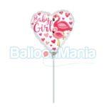 Balon minifolie Baby Girl Flamingo 39648