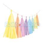 Ghirlanda franjuri, pastel,  300 cm 9904613