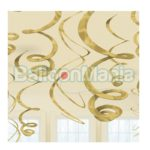 Set 12 serpentine decorative aurii, 55,8 cm 67055-19