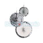 Set 3 rozete argintii, 18/30/38 cm 9904627