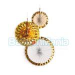 Set 3 rozete aurii, 18/30/38 cm 9904628