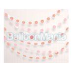 Set 6 ghirlande decorative roz gold & nude, 231 cm 67085