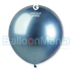 Balon latex shiny albastru, 48 cm GB150/92