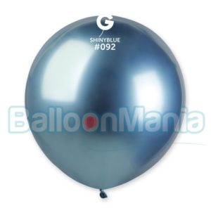 Balon latex shiny albastru, 48 cm GB150/92
