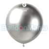 Balon latex shiny argintiu, 48 cm GB150/89