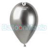 Balon latex shiny argintiu, 32 cm GB120/89