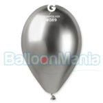 Balon latex shiny argintiu, 32 cm GB120/89