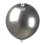 Balon latex shiny argintiu grafit, 48 cm GB150/90