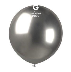 Balon latex shiny argintiu grafit, 48 cm GB150/90