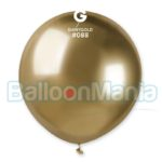 Balon latex shiny auriu, 48 cm GB150/88