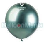 Balon latex shiny verde, 48 cm GB150/93