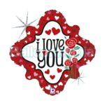 Balon folie holografica Love Roses, 46 cm 36206H