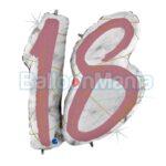 Balon folie 18 Roz Gold Marble, 97 cm 31015