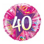 Balon folie 40 stea roz 45 cm 25255