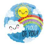 Balon folie Proud of you, 45 cm 41157