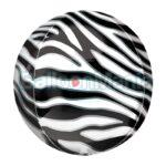 Balon folie Orbz cu print Zebra, 38 x 40 cm 42107
