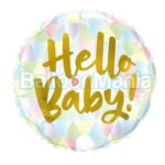 Balon folie Hello Baby, 45 cm 88007
