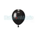 Balon latex metalizat negru, 13 cm AM50.65
